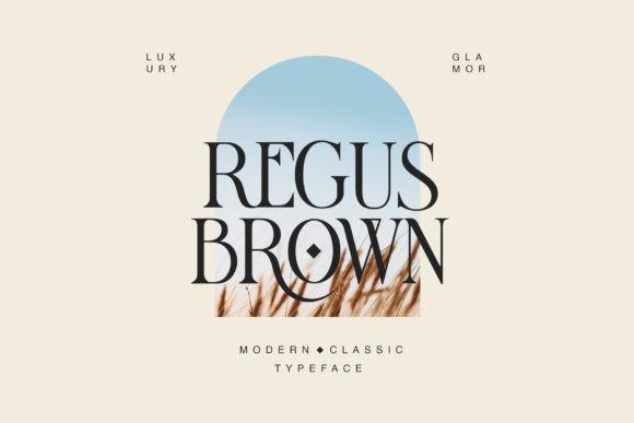 Regus Brown Font