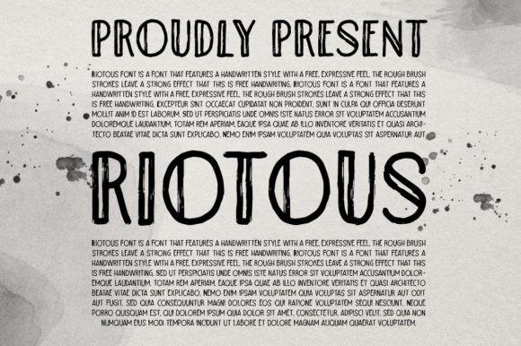 Riotous Font
