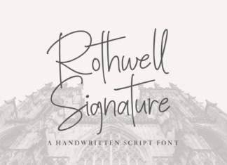 Rothwell Signature Font
