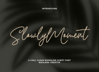 Slowly Moment Font