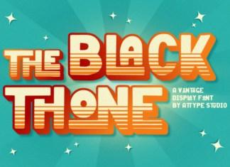 The Black Thone Font