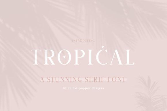 Tropical Font