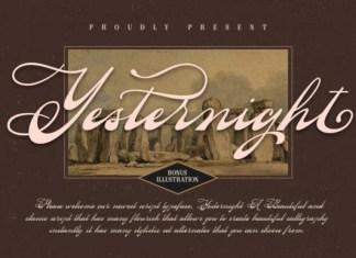 Yesternight Font