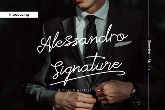 Alessandro Signature Font