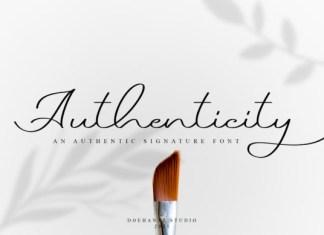Authenticity Font