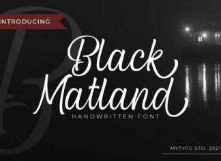Black Matland Font