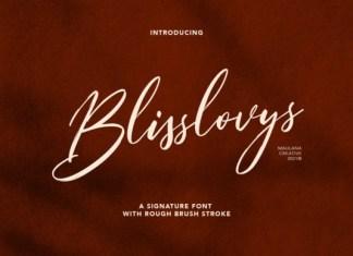 Blisslovys Font