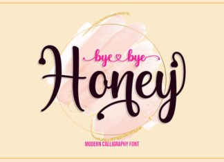 Byebye Honey Font