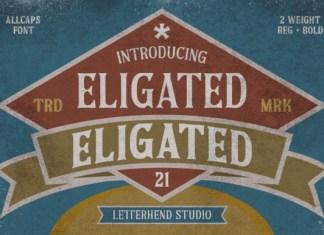 Eligated Font
