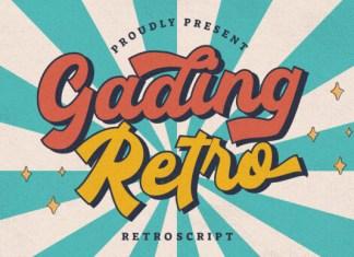 Gading Retro Font