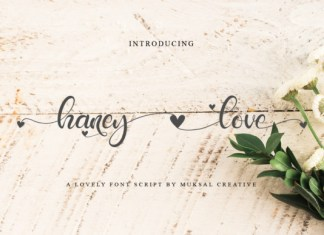 Haney Love Font