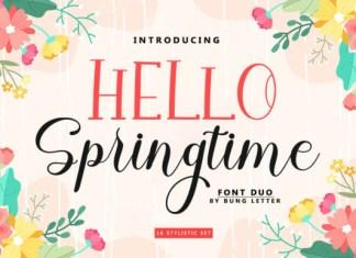 Hello Springtime Font