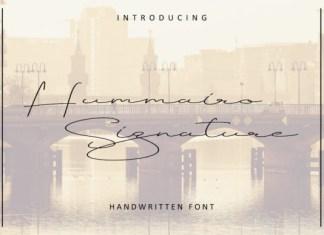 Hummairo Signature Font