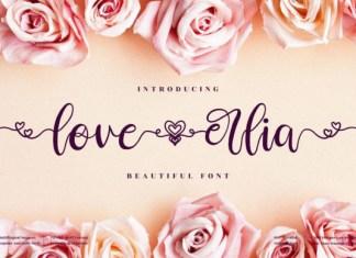 Love Erlia Font