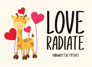 Love Radiate Font