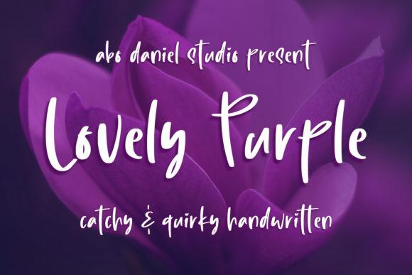 Lovely Purple Font