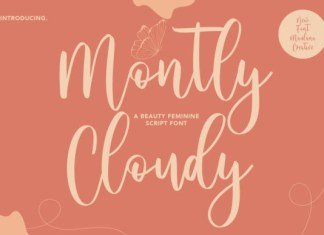 Montly Cloudy Font