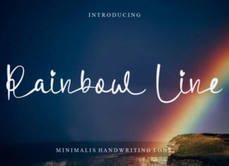 Rainbow Line Font