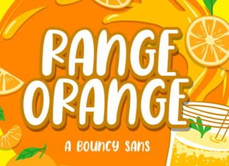 Range Orange Font