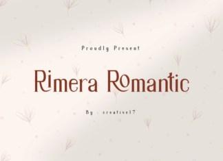 Rimera Romantic Font