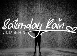 Saturday Rain Font