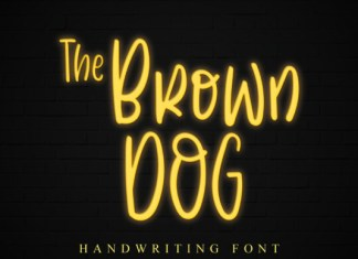 The Brown Dog Font