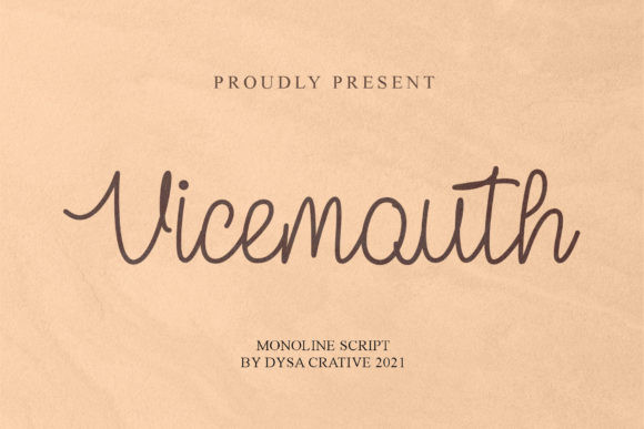 Vicemouth Font