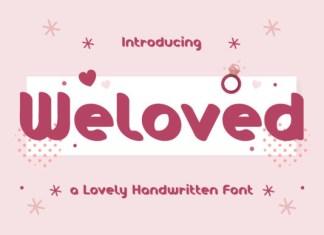 Weloved Font