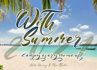 With Summer Font