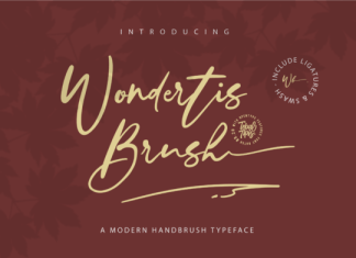 Wondertis Brush Font