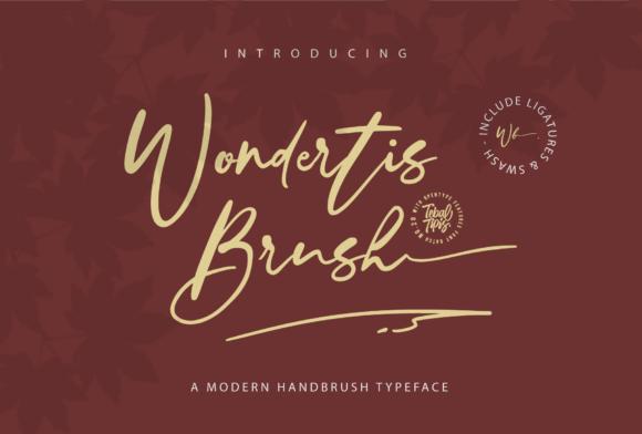 Wondertis Brush Font