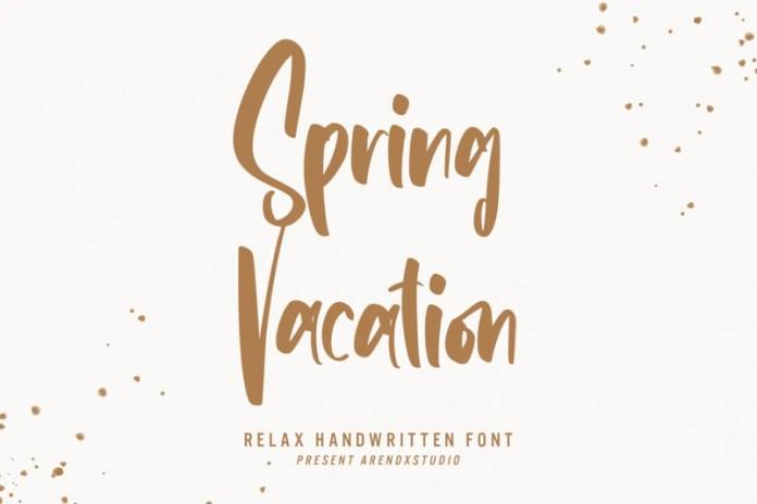Spring Vacation Font