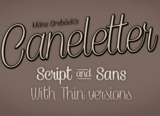 Caneletter Font