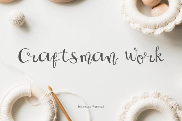 Craftsman Work Font