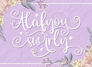 Alafyou Swirly Font