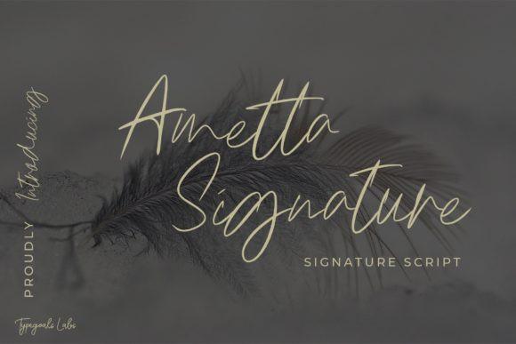 Ametta Signature Font
