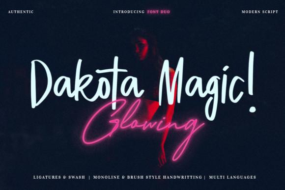 Dakota Magic! Glowing Font