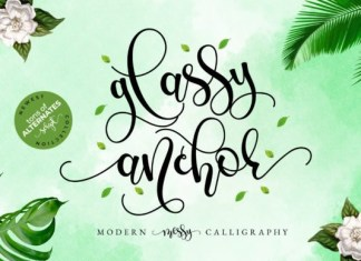 Glassy Anchor Font