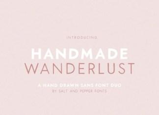 Handmade Wanderlust Font