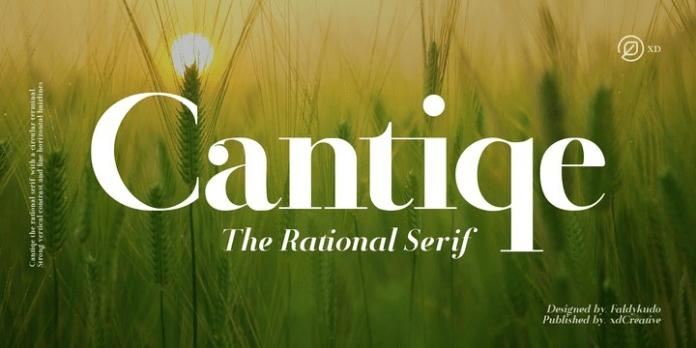 Cantiqe Font