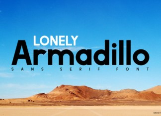 Lonely Armadillo Font