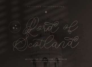 Lord of Scotland Font