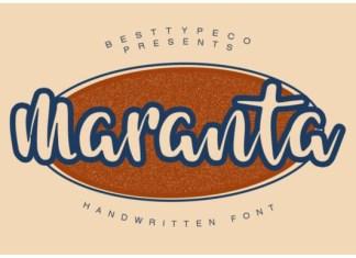 Maranta Font