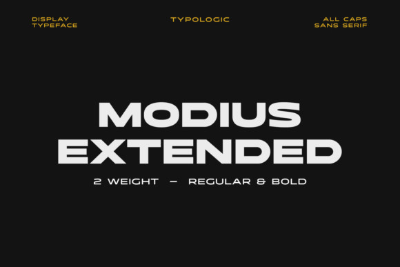 Modius Extended Font