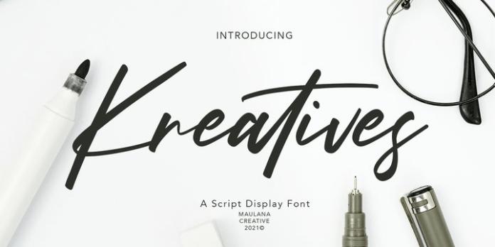Kreatives Font