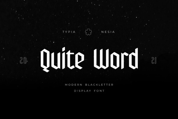 Quite Word Font