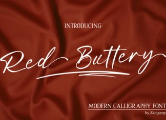 Red Buttery Font