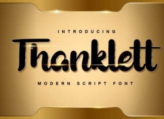 Thanklett Font