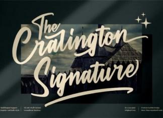 The Cralington Signature Font