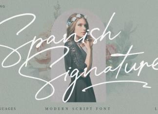 Spanish Signature Font
